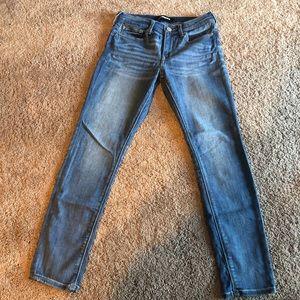 EXPRESS stretch leggings size 0S/0C Medium wash